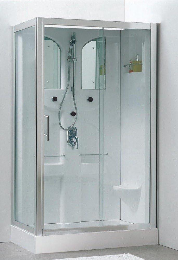 Schulte Malta Cabina de ducha completa, cabina de wellness, rectangular, color blanco: Amazon.es: Bricolaje y herramientas