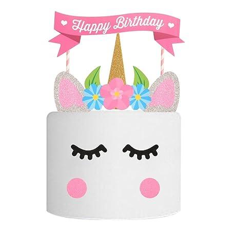 LQZ Unicornio Cake Topper para Pastel Tarta Conector Topper ...