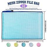 10 Pack A4 Zipper Pouch File Bag, LEOBRO Durable