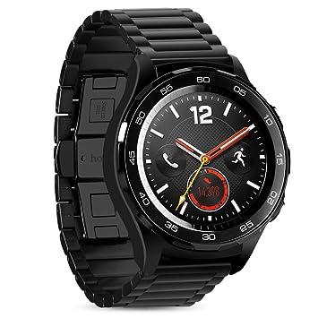 hoco pour Huawei Watch Band, Pinhen Inoxydable Bracelet en Acier Inoxydable Montre Band Sangles pour