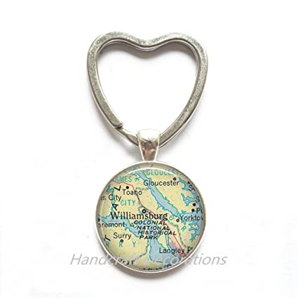 Amazon.com: Charming Keychain,Williamsburg, Virginia map Key ... on map of charleston, map of fries, map of emerald mound, map of windsor heights, map of the brooklyn, map of west branch, map of cedar, map of university heights, map of firethorne, map of gordonsville, map of brookneal, map of mount weather, map of vassar, map of rockbridge county, map of cole county, map of white city, map of lawrenceburg, map of weatherly, map of providence place, map of james river bridge,
