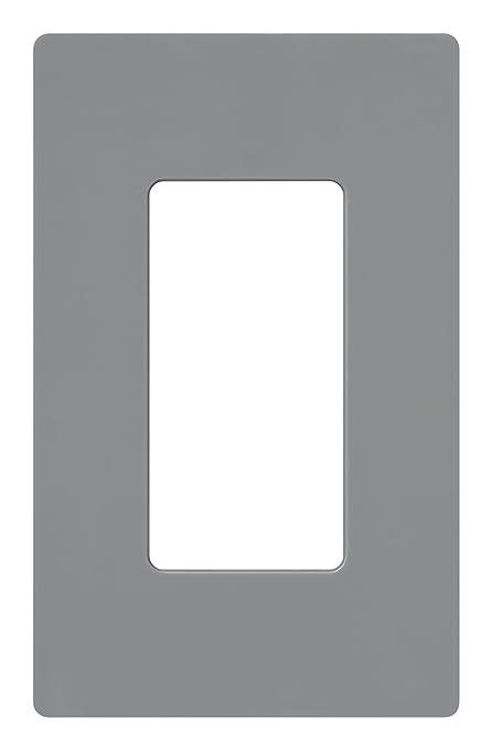 Lutron Claro 1 Gang Decorator Wallplate Cw 1 Gr Gray Switch