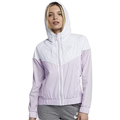 e7b2523d89 Amazon.com  Nike Sportswear Windrunner Women s Jacket (Barely Grape White