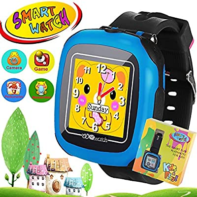 "iGeeKid Kids Game Smart Watch 3-12 Year Boys Girls Pedometer 3MP Camera 1.5"" Touch Screen 10+ Puzzle Games Children Fitness Wrist Watch Activity Tracker Travel School Outdoor Birthday Gift"