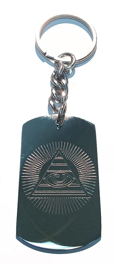 Amazon.com: All Seeing Eye Pirámide Sol Dólar Bill – Anillo ...