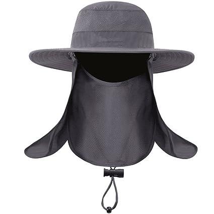 Dealsboom Sun Cap Men Summer Fishing Hat Wide Brim - Flap Hats UV 360° Solar  Protection UPF 50+ Sun Cap Removable Neck Face Flap Cover Caps for Outdoor  ... 37e8053ceb76