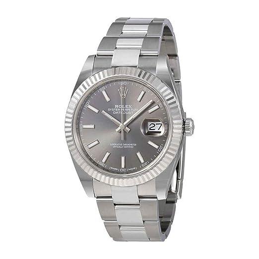 Rolex 126334RSO - Reloj automático para hombre, diseño de rodio oscuro: Amazon.es: Relojes