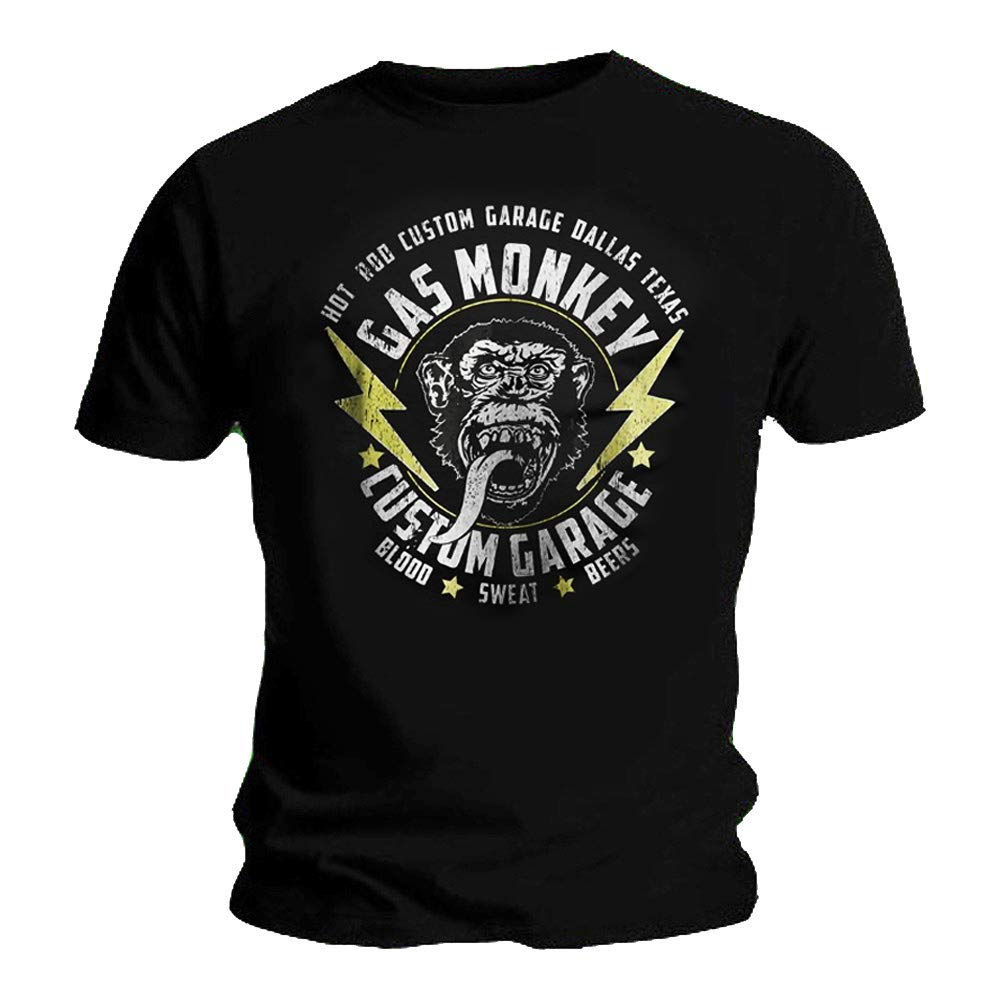Official GMG T Shirt Gas Monkey Garage /'Red White /& Black Shield/' All Sizes