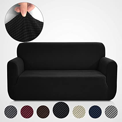 Rose Home Fashion RHF Jacquard-Stretch Sofa Cover, Slipcover for Leather Couch-Polyester Spandex Sofa Slipcover&Couch Cover for Dogs, 1-Piece Sofa ...
