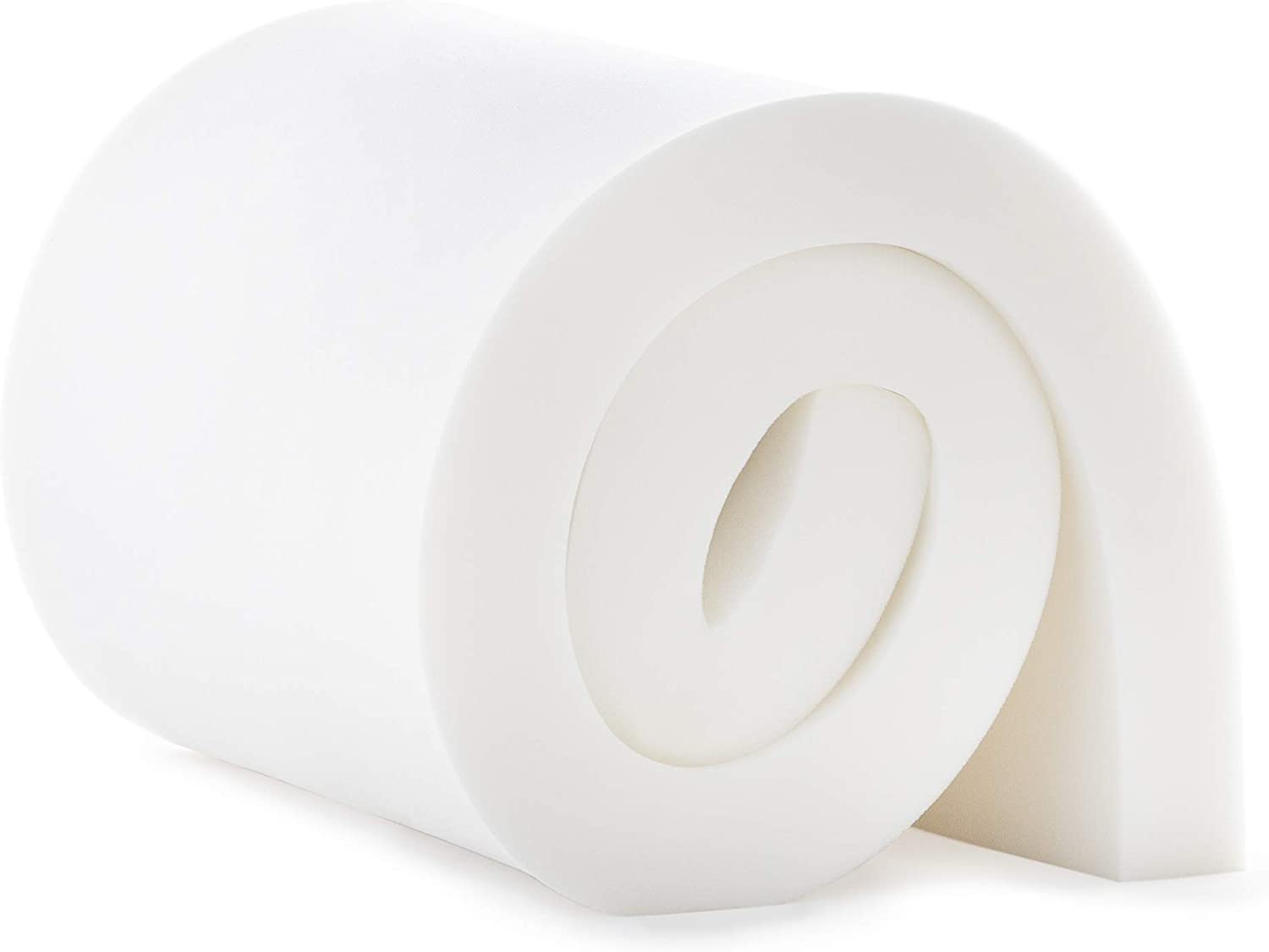 """Linenspa LS3247225UF Upholstery High DensityCushionCraft Foam-Perfect for Chairs, Sofas,Headboards, and DIY Projects, 3"""" x 24"""" x 72"""", White"""