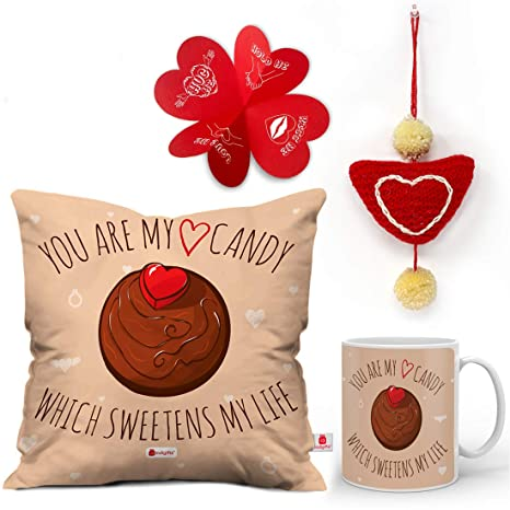 Buy Indigifts Valentine Gifts Love Quote Valentine Candy Cake Brown
