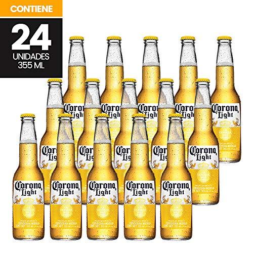 Cerveza Clara Corona Light 24 botellas de 355ml c/u