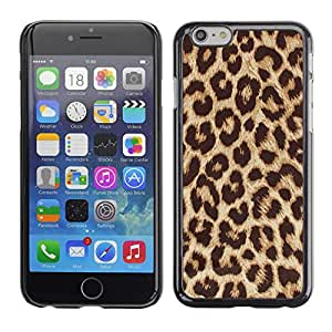 For Apple iPhone 6 Plus(5.5 inches)Case , Golden Brown Animal Pattern - Diseño Patrón Teléfono Caso Cubierta Case Bumper Duro Protección Case Cover Funda