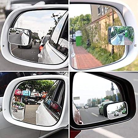 Nueva HD sin marco de vidrio con rotaci/ón de 360 /° ajustable para todos los veh/ículos universales para aumentar la visibilidad y mejorar la seguridad de conducci/ón