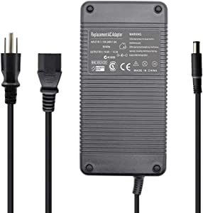 New Replacement AC Adapter 240W FWCRC for DELL Alienware Area-51 M17x / M17-R1 / M17X / M17X-R3; Precision 7520 7720 M6400, M6500, M6600 LA240PM180, 7XCR6, 07XCR6, DA240PM180, 0RYJJ9, RYJJ9, 8N2T2,