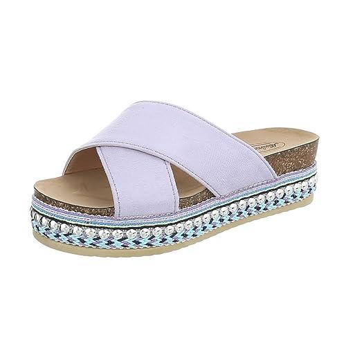 Zuecos Plano Sandalias Morado complementos Mujer Zapatos Vestir y de Amazon Zapatos para es Tamaño 39 Eqx0XRXY