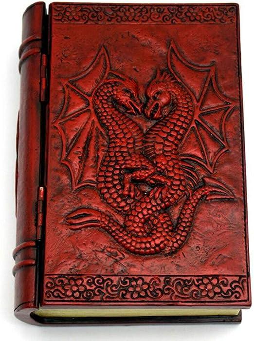 Double Dragons Gothic Fantasy Design 4x6 Book-Style Jewelry Tarot Trinket Box