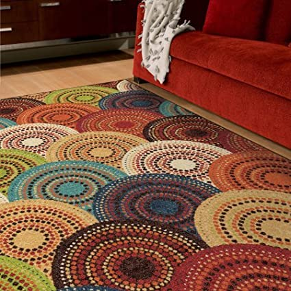 942b2f704bb Image Unavailable. Image not available for. Color  Better Homes and Gardens  Bright Dotted Circles Area Rug and Runner ...