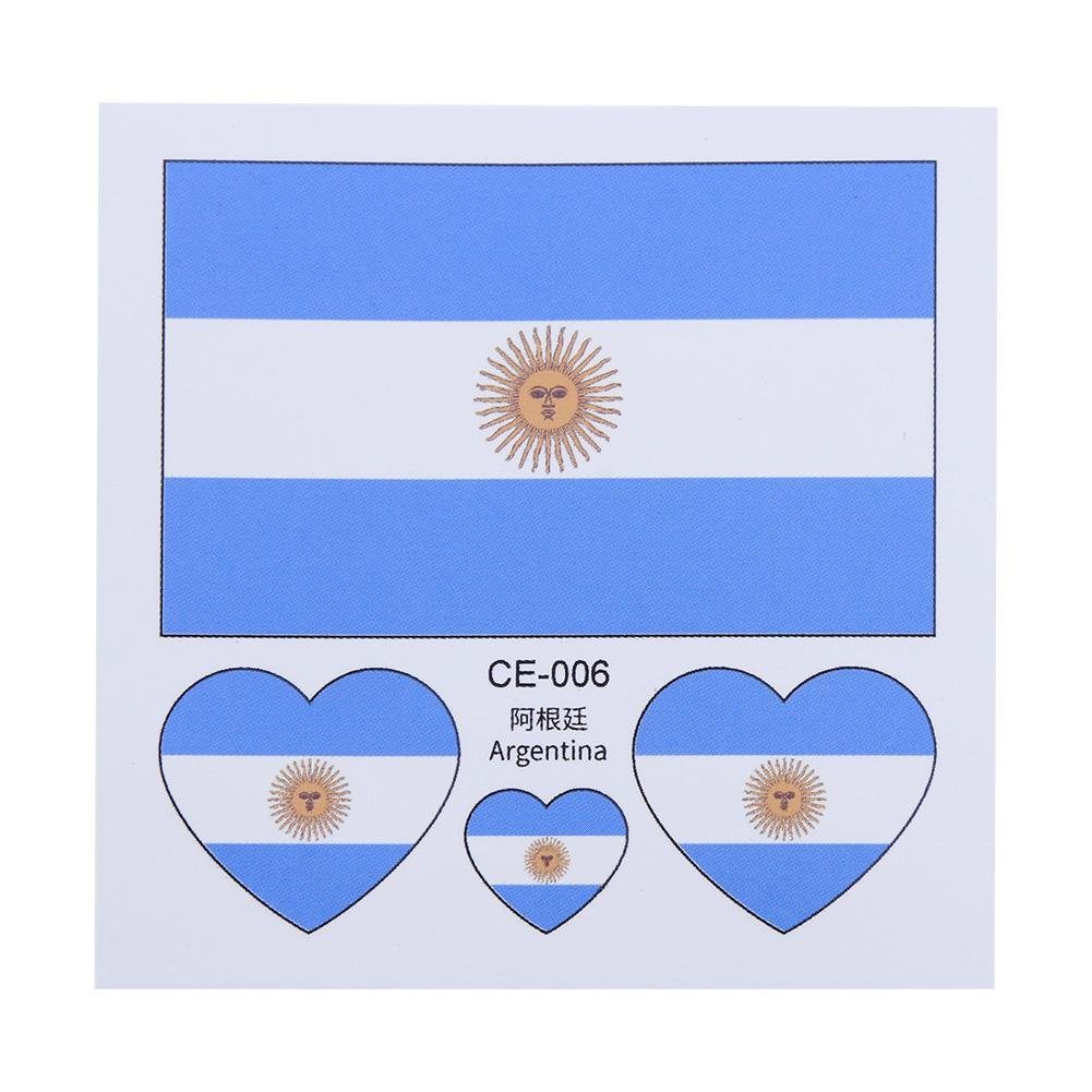 Amazon com unihappy world cup waterproof disposable national flag tattoo stickersargentina beauty