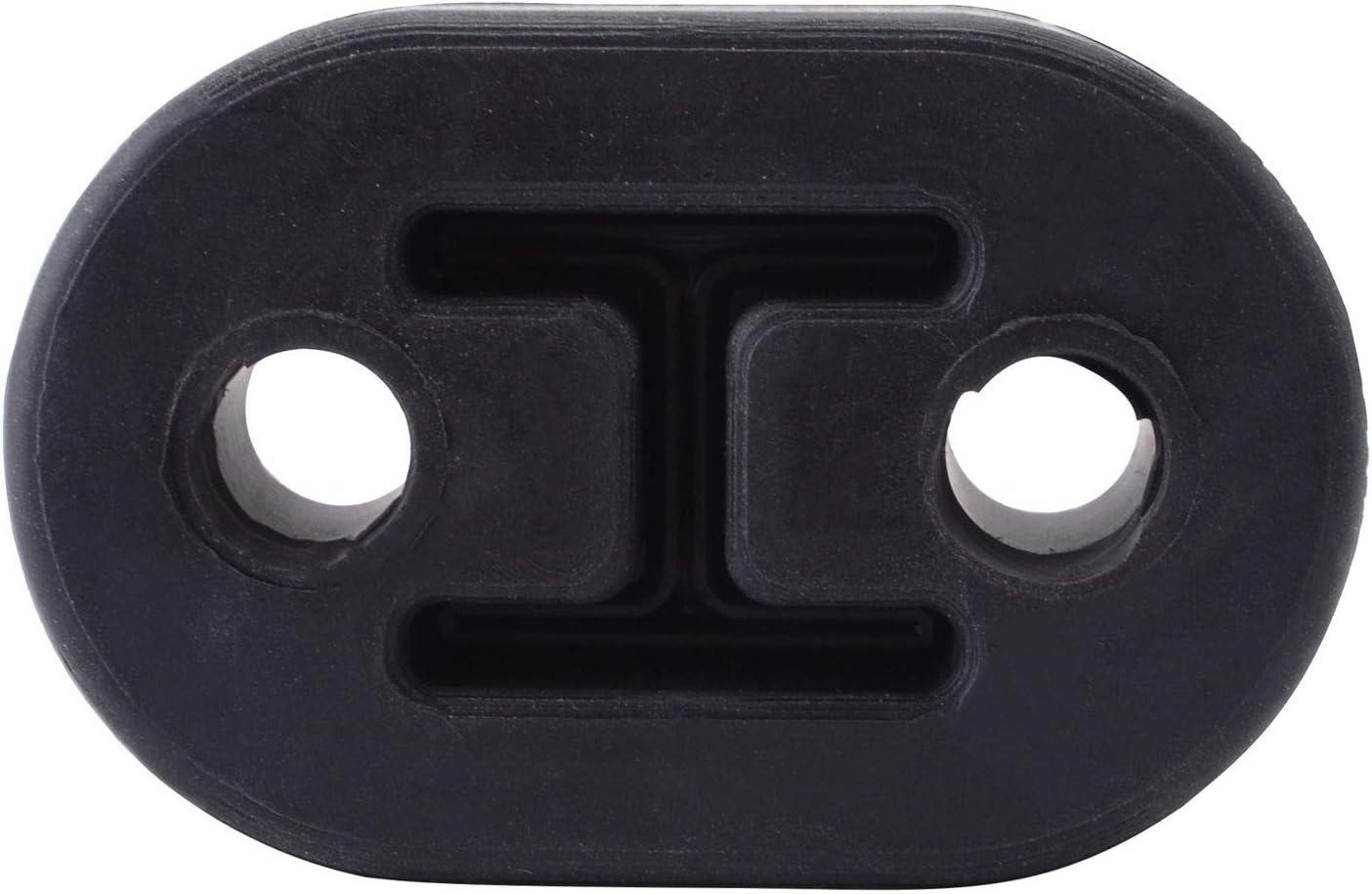 ANTS PART 2 Holes Car Exhaust Rubber Hanger Mount Bushing Muffler Insulator Shock Absorbent Replacement Support Bracket Red
