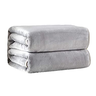 PBEN Soft Blanket for Bed Couch Sofa Travel Lightweight Cozy Plush Microfiber Flannel Blanket
