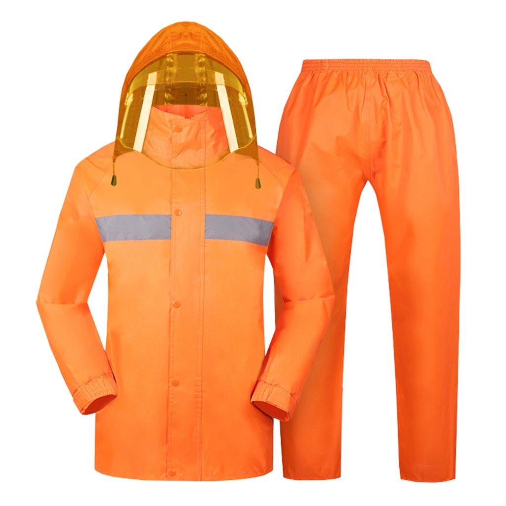 E XX-grand VêteHommests de sport imperméables Combinaison de pluie pour hommes et femmes vêteHommests de pluie réutilisables (veste de pluie et pantalon de pluie ensemble) Adultes imperméable étanche à la pluie cou