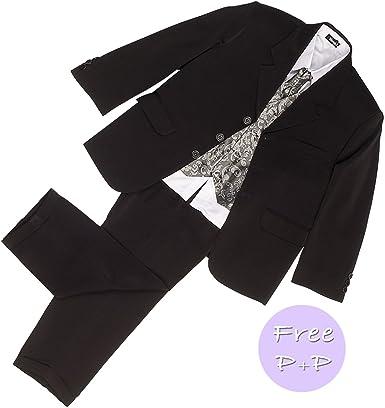 LG nueva camiseta pantalones para niño negro 5 piezas plata ...