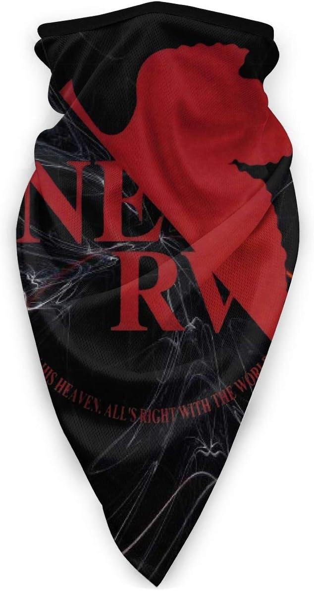 Neon Genesis Evangelion NERV Logo Windproof Scarf Face Veil Neck Warmer Bandana