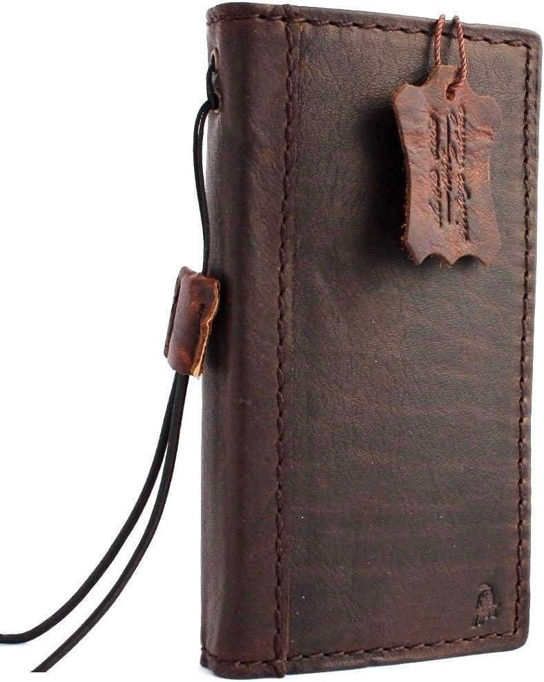 Genuine Full Leather Case for iPhone 5s 5 5c Book Wallet Cover Browm Thin Handmade Retro Pro DavisCase