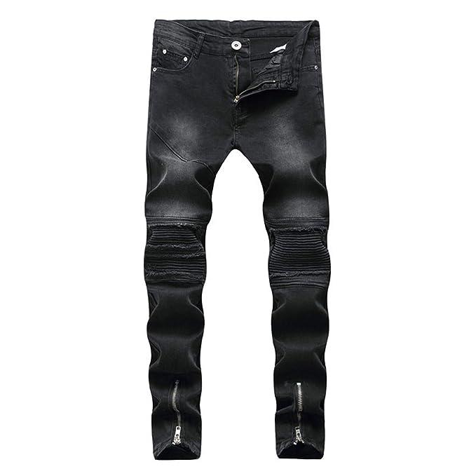 Amazon.com: Sonjer Black 2018 - Pantalones vaqueros de ...