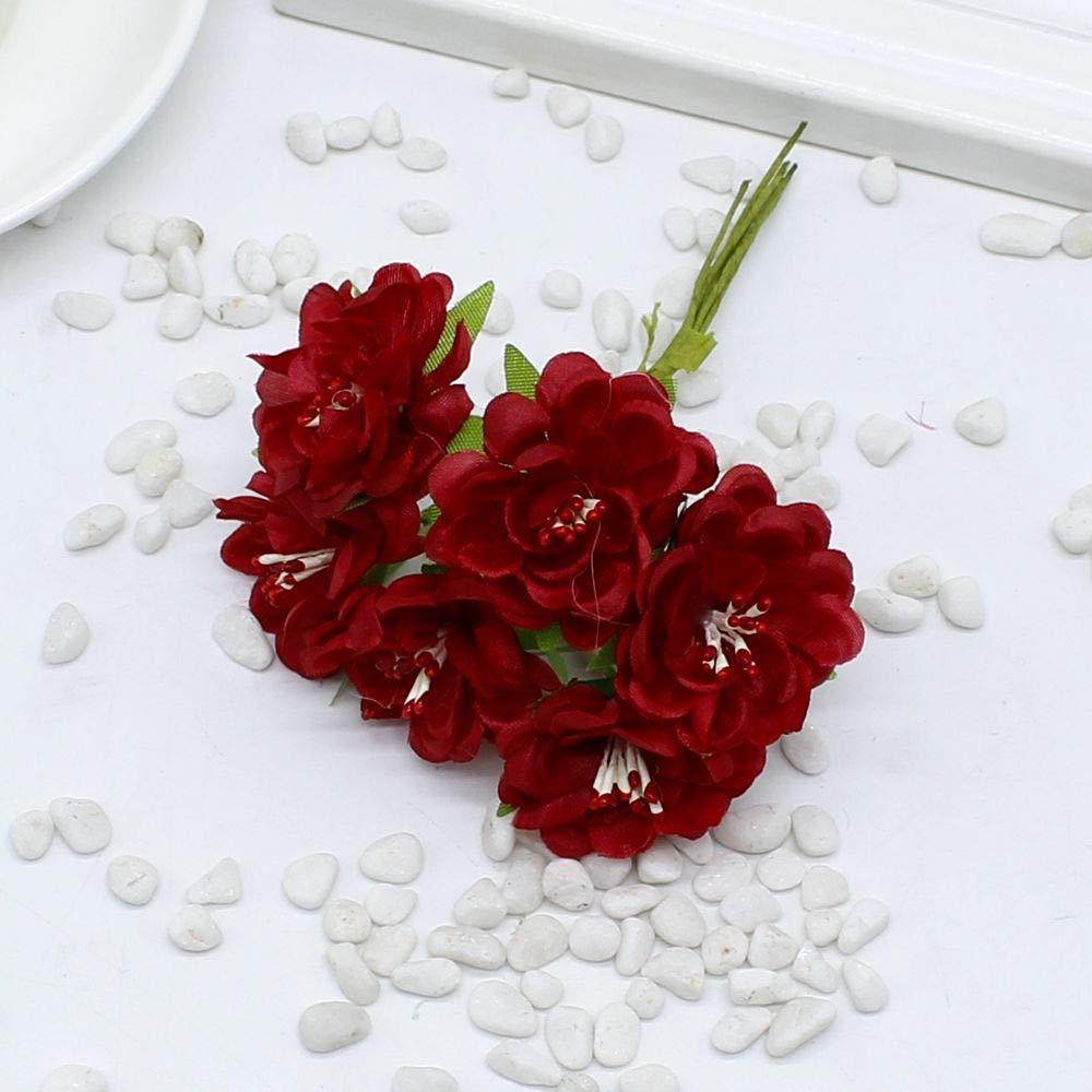 PPL21 60個 シルク 人工デイジーフラワー ハンドメイド 花 結婚式 車装飾 スクラップブック 花輪 装飾 花 造花 B07HFC7JLN 4