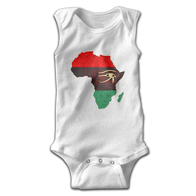 6bf1b2ede4ad7 Amazon.com: Horus Eye in Pan African Colored Africa Map Baby ...