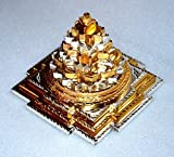 Meru yantra 3D Sri Shri meru yantra Brass Ashtadhatu Shree Shri Laxmi yantra Sri Yantra Energized - Spiritual powers peace health wealth financial prosperity BIG Approx. 4x4'' Inches 850 gms -US seller