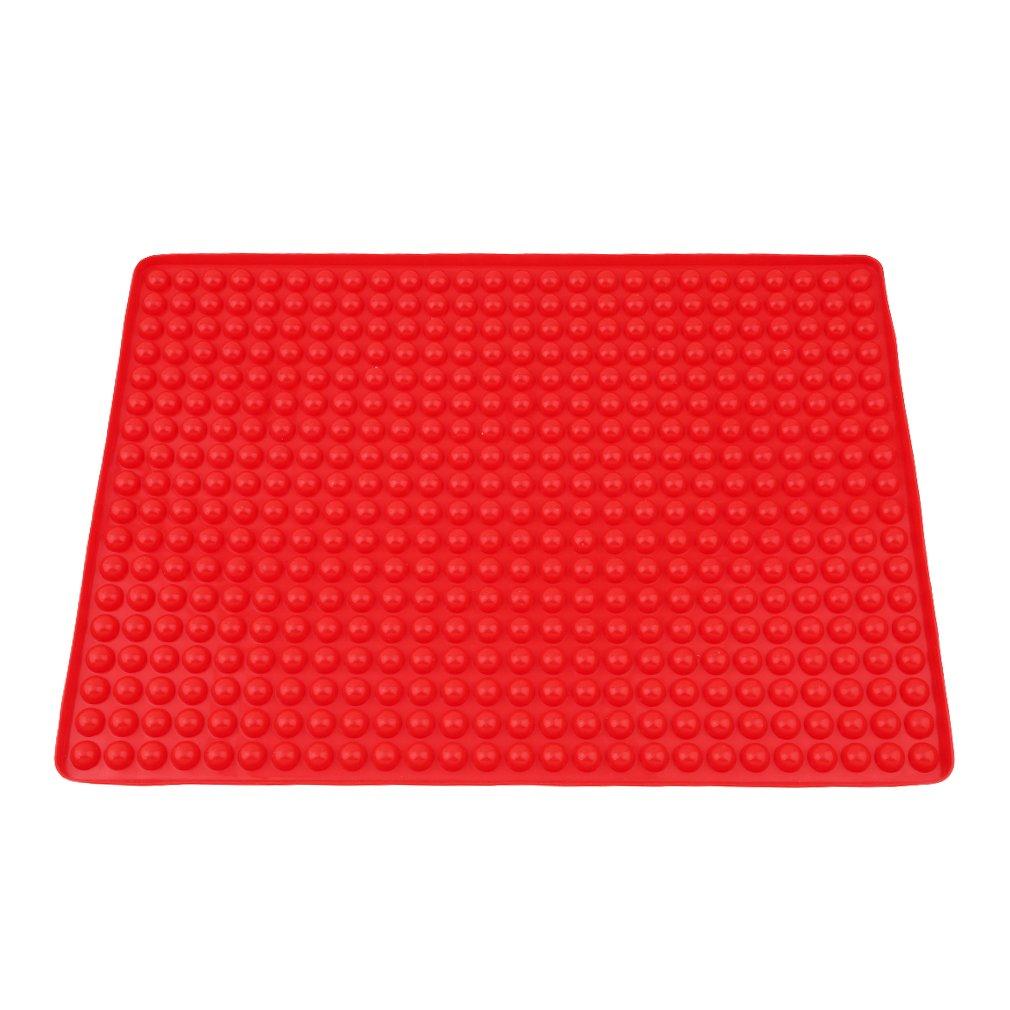 HENGSONG Silikon Backunterlage Backpapier Teigmatte Backmatte Teigunterlage Ausrollmatte mei_mei9