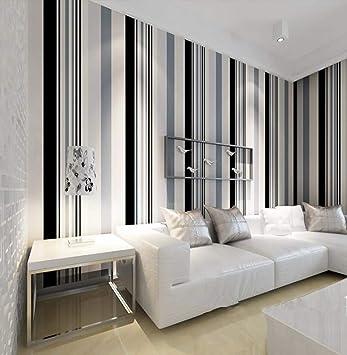 Cucsaistat Wallpaper Modern Schwarz Und Weiss Grau Vertikale Streifen