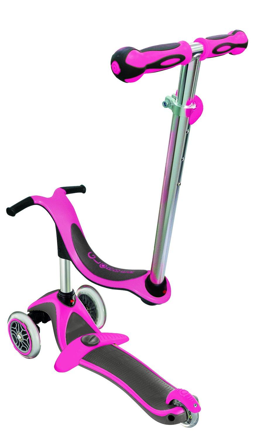 Amazon.com : Globber Evo 4 in 1 Plus 453-132 Neon Pink ...