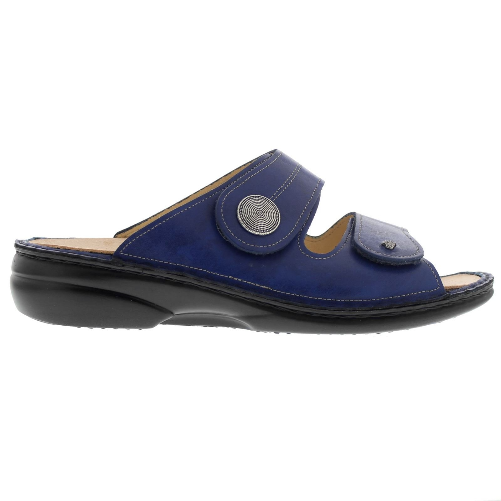 Finn Comfort Womens 2550 Sansibar Missouri Blue Leather Sandals 40 EU
