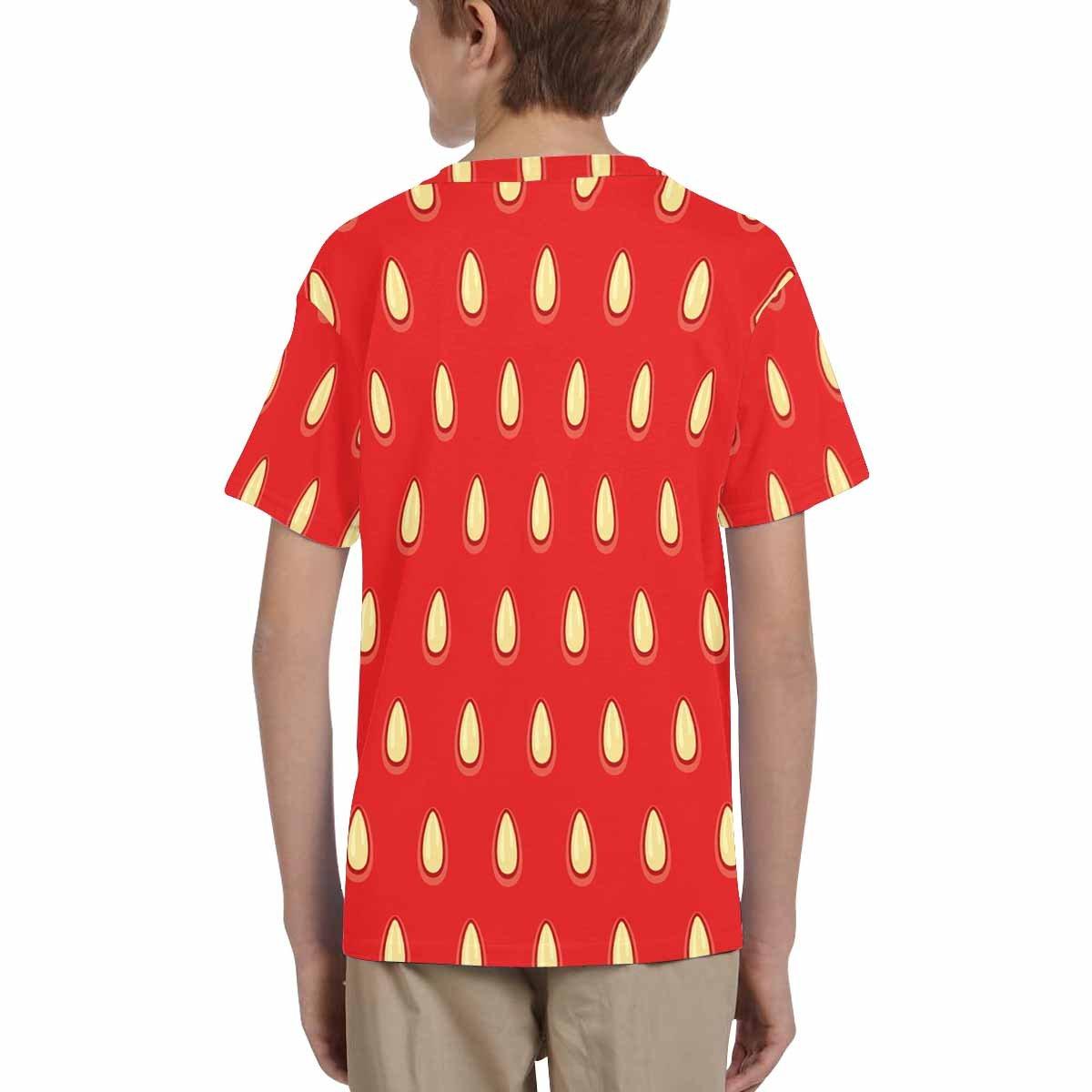 XS-XL INTERESTPRINT Strawberry Surface Unisex Kids T-Shirts