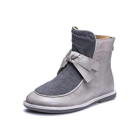 1201c4f8d8d10 Amazon.com: Hy Women's Booties,Leather Fall/Winter New Handmade ...