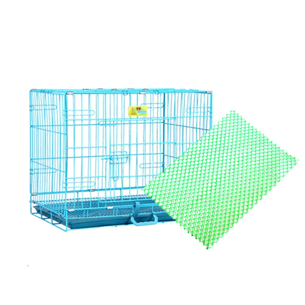 46×30×37cm Pet Playpens Dog Cage Foldable Bold Iron Cage Indoor Pet Supplies, with Foot Pad Animal Fence Cage (Size   46×30×37cm)