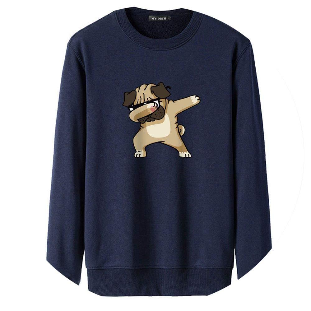 Qirong Dabbing Dogs Hoodies Men//Women Cartoon Print Dog Sweatshirts Hoodie Man Winter Clothes Mens Casual Pullover