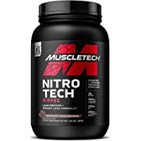 MuscleTech Nitro-Tech Ripped Lean Protein Powder + Weight Loss Formula, Whey Protein Shake Mix, 30 Grams Protein, 6.6g…