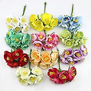 Artificial silk camellia flowers for DIY wreaths garland Scrapbook wedding decoration 30pieces 3cm 4