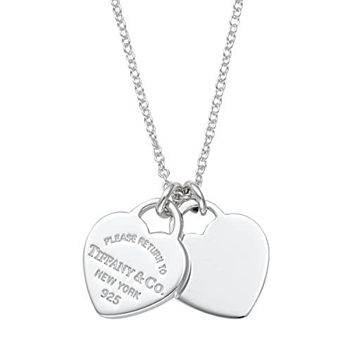 più recente a16b1 d3fbc Tiffany Tiffany in argento Sterling Rtt doppio collana cuore ...