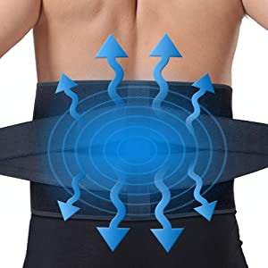 Ice Pack for Back Pain Relief/Cold Lower Back Brace w/Gel Pack for Lower Back Injuries, Sciatica, Coccyx, Scoliosis Herniated Disc - Adjustable Lumbar Support w/Hot Cold Therapy Wrap for Men Women