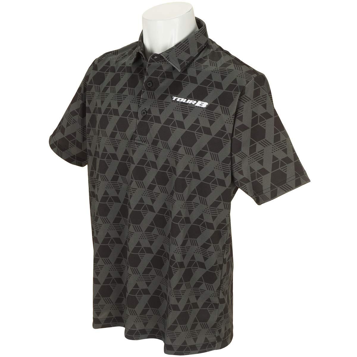 ブリヂストン TOUR B 半袖シャツポロシャツ 半袖ポロシャツ ブラック 3L   B07Q3KPFRH