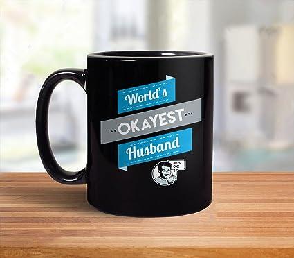 funny husband gift worlds okayest husband mug funny gift for husband funny christmas