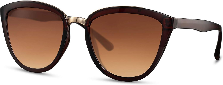 Cheapass Sonnenbrille Cat-Eye Verspiegelt Designer Brille Hochwertig Frauen Damen