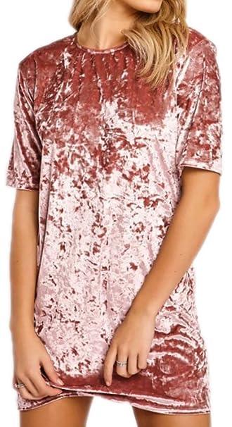 de5166c7f70 Amazon.com: FashionDG Romantic Classic Slim Crushed Velvet Short ...