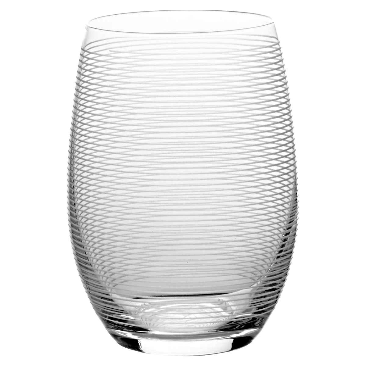 Mikasa Cheers Stemless Etched Wine Glasses, Fine European Lead-Free Crystal, 17-Ounces for Red or White Wine - Set of 6 by Mikasa (Image #3)